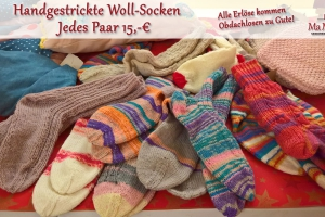 Spendenbasar Wollsocken